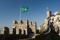Castelo Dos Mouros wall in the Portuguese town of Sintra