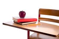Vintage School Desk with Apple