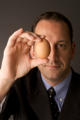 Buisness man with egg
