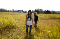 teen girl grassy pasture portraits
