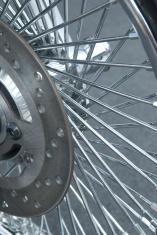 Detail of motorbike wheel