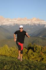 vertical runner on the Trail