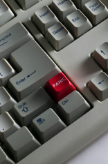 Panic Button on a keyboard