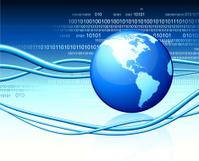 Globe on numeric technology and communication Background