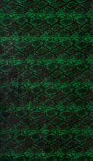 Green crocodile or snake skin imitation