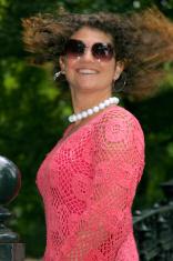 Pretty woman swinging her hair