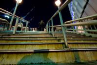 Steps in Osaka at Night