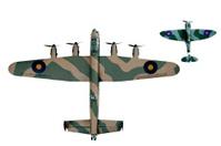 Lancaster Bomber and Spitfire