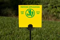 Pesticide application sign.