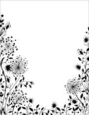 Floral frame .
