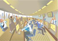Financial dealing room