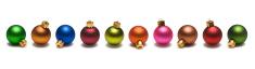 Christmas Balls Border