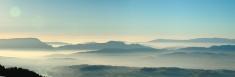 Mountain foggy landscape