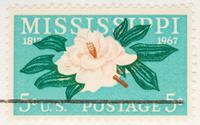 Vintage 1967 Mississippi Anniversary Stamp