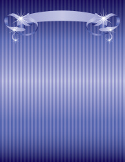 Blue Ribbon and Striped Background