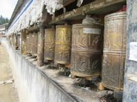 Tibetan Prayer Wheels Outside Tashilhunpo Monastery