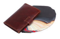 Wallet and leather samples