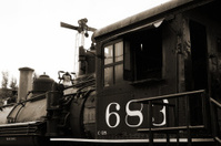 Sepia Locomotive