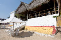 Restaurant on the beach in Jalisco, Mexico
