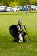 Lady knight in armor