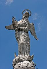 Statue of the Virgin Mary in Quito, Ecuador