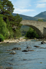Close up of a scottish highland bridge