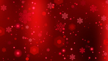 Red winter background