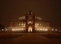 Semper Opera House by night in Dresden