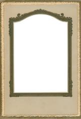 Antique brown scroll frame