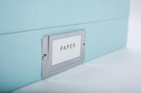paper storage and scissors