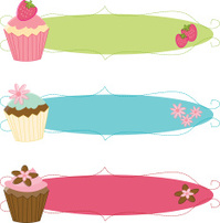 Fancy Sketchy Cupcake Banners