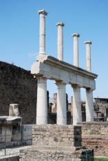 Column of forum in Pompei