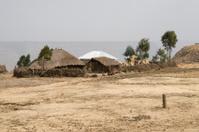 Ethiopian landscape with a hut