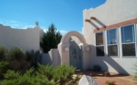 southwestern style home & courtyard