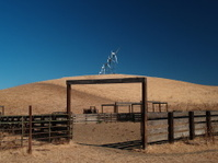 Wind farm and cattle pen