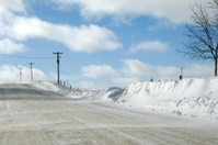 Winter road scene