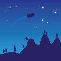 Night sky silhouette