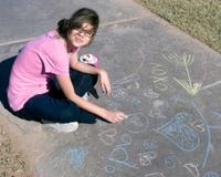 Girl With Sidewalk Chalk