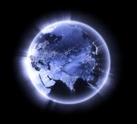 Blue glowing Earth [Asia]