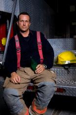Fireman resting.