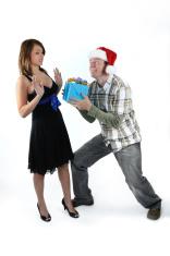 Redneck Santa giving Gift