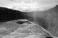 Gullfoss water fall BW