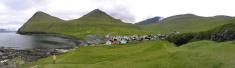 The village of Gjogv, Faroe Islands