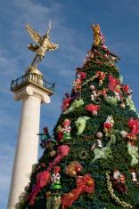 Angel of Liberty and Christmas Tree