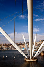Genova Port. Color Image