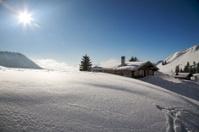 Ski hut in the alps