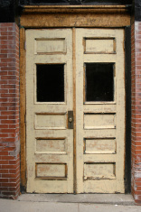 Worn out doorway