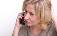 Woman conversating by phone