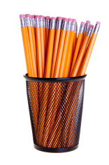 Pencils in Metal Cup