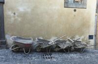 Wheelbarrows in Orvieto